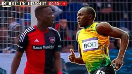 Video: Luis Advíncula emuló a Usain Bolt en triunfo de Newell's Old Boys