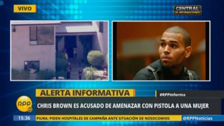 Chris Brown es acusado de amenazar a mujer con arma