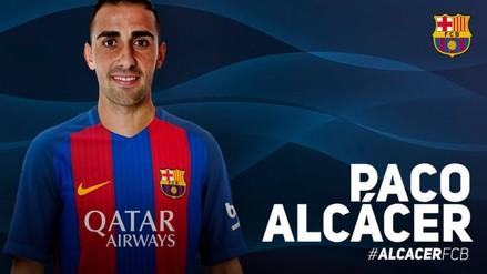 Barcelona: Paco Alcácer es oficialmente jugador 'Blaugrana'