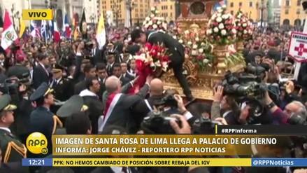 Kuczynski rindió homenaje a imagen de Santa Rosa de Lima