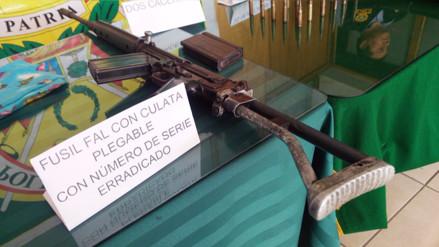 Huancayo: policías recuperan armamento de guerra en el distrito de Pariahuanca