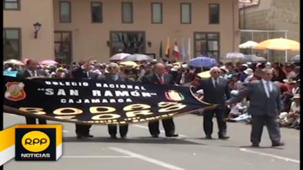 Promociones del colegio San Ramón desfilaron en sus 185 aniversario
