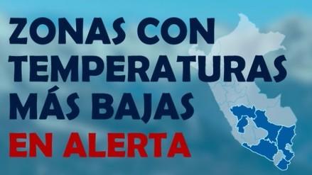 Alerta por heladas: Ocho regiones de la sierra central y sur del país se encuentran afectadas