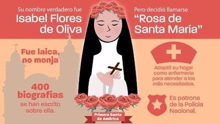 Gráfico: La vida de Santa Rosa de Lima
