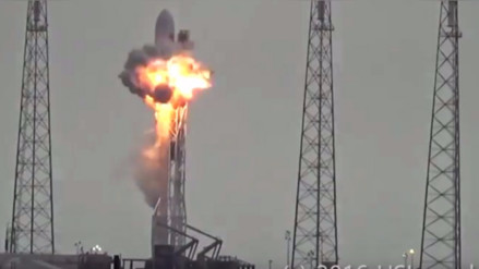 Publican video del momento exacto de la explosión del cohete de SpaceX