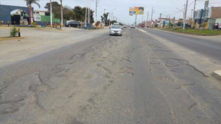 Malestar por pésimo estado de vía que une Trujillo y Huanchaco