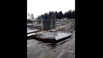 Celendín: fuertes vientos y granizada destruyeron techos en Cruz Conga