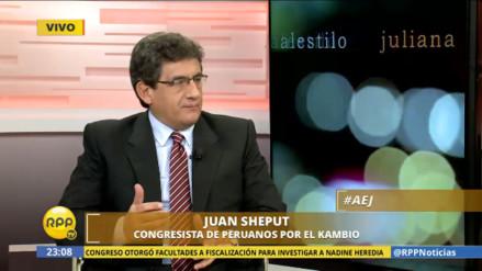 "Sheput: ""La actitud desafiante de Nadine Heredia demuestra inseguridad"""