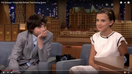 """VIDEO. Stranger Things: """"Eleven"""" comenta su beso con """"Mike"""""""