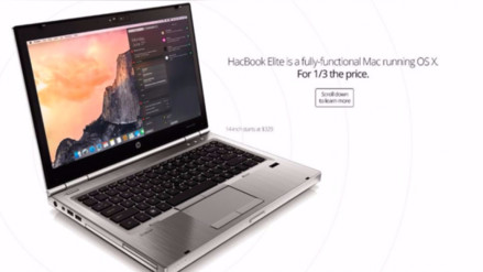 La HackBook Elite es una laptop con Mac de US$329