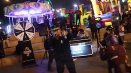 Facebook: policía se anima a rapear en un evento desarrollado en Chorrillos