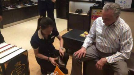 Michel Temer causó polémica en Brasil por comprar zapatos en China