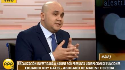 """""""La mayoría de la Comisión de Fiscalización ya prejuzgó a Nadine Heredia"""""""