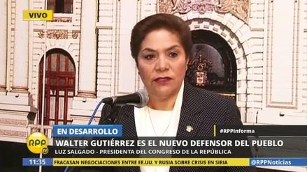 Luz Salgado pide dejar trabajar al nuevo defensor del Pueblo