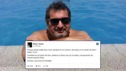Facebook: famosos se unen en cadena de oración por Ricky Tosso