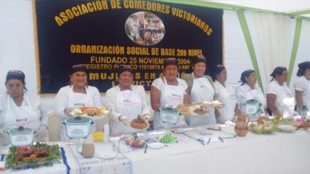 Madres de comedores populares participaron en concurso gastronómico