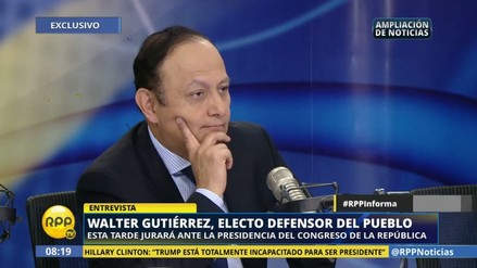 Walter Gutiérrez pide más presupuesto para la Defensoría