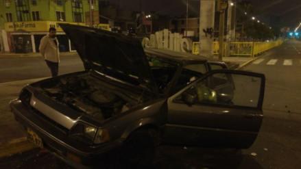 Dos heridos en violento accidente de tránsito en San Luis
