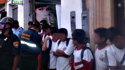 Trujillo: escolares se evaden para ir a cabinas de internet