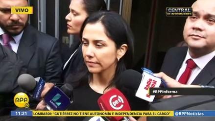 """Nadine Heredia: """"Le deseo mucha suerte a Julia Príncipe"""""""