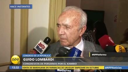 """Guido Lombardi dice que su votación """"le ha dolido"""" al APRA"""