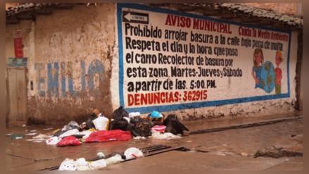 Más de mil soles de multa para quienes arrojen basura a la calle