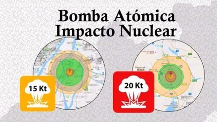 Infografía: El poder devastador de una Bomba Nuclear