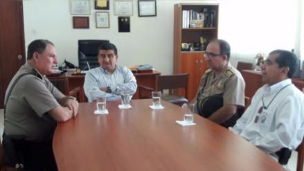 Gral. PNP Jorge Pérez Flores conversó con el gobernador regional
