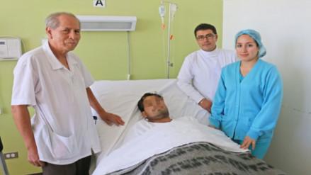 Chiclayo: médicos salvan a hombre que se intentó degollar