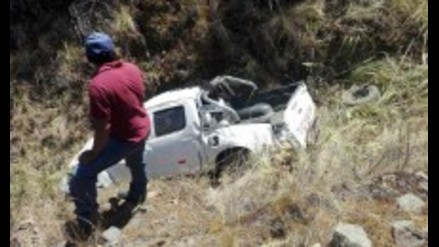 Pallasca: camioneta municipal cae a abismo y deja tres heridos