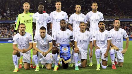 El primer gol y la primera formación del Leicester City en Champions League