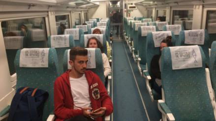 Twitter: detuvo el tren a mitad de camino porque su jornada laboral había concluido