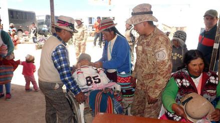 Ejército realiza campaña humanitaria en zonas afectadas por el friaje en Arequipa