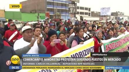 Minoristas de La Parada marchan exigiendo su Tierra Prometida
