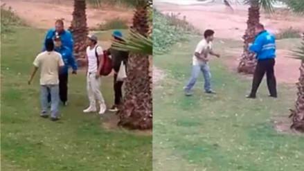 Facebook: sereno de Miraflores se agarra a golpes con un joven