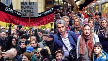 Refugiados y ultraderechistas se enfrentaron en Alemania