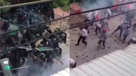 YouTube: un pueblo chino se defendió así de la represión policial