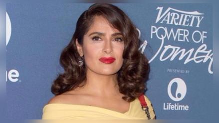 Salma Hayek es sorprendida por Lenny Kravitz
