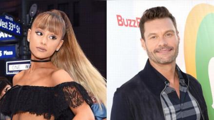 Ariana Grande calló a Ryan Seacrest cuando le preguntó sobre Mac Miller