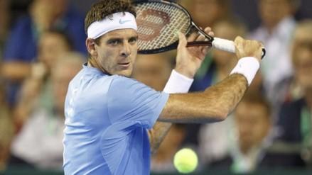 Juan Martín Del Potro acabó con la racha de Andy Murray en Copa Davis