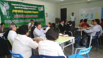 Lambayeque: capacitan a directores de colegios frente riesgo social de escolares