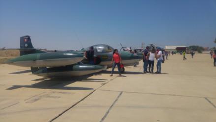 Piuranos participaron de exposición estática de aviones en Grupo Aéreo Nº 7