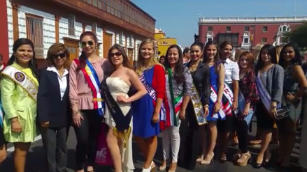 Reinas y waripoleras extranjeras llegan a Trujillo por festival de la primavera