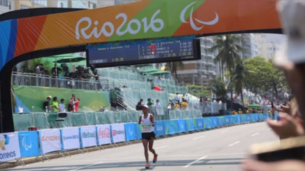 Efraín Sotacuro acabó cuarto la maratón en los Juegos Paralímpicos