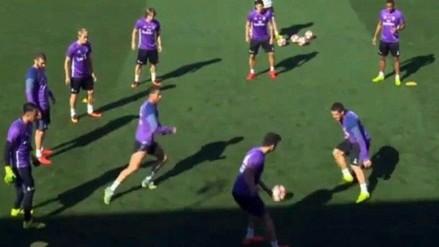 Enzo Zidane 'bailó' a Cristiano Ronaldo en entrenamientos del Real Madrid