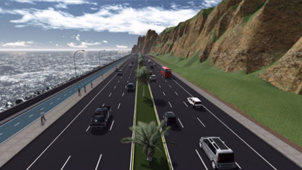 Vía expresa de la Costa Verde del Callao estará lista a inicios del 2017