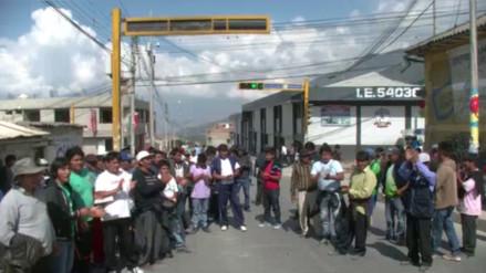 Abancay acata paro por trabajos en obras de agua y desagüe