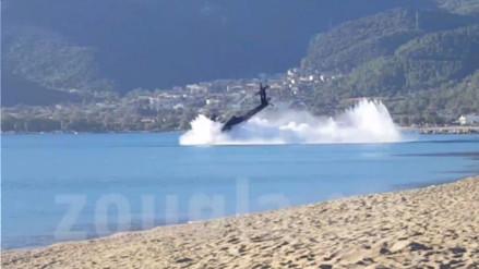 YouTube: helicóptero realizaba exhibición y acabó sufriendo aparatoso accidente