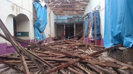 Iglesia San Jerónimo de Tunán dañada por fuertes lluvias en Huancayo