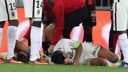Radamel Falcao termina en un hospital tras fuerte impacto en partido del Mónaco